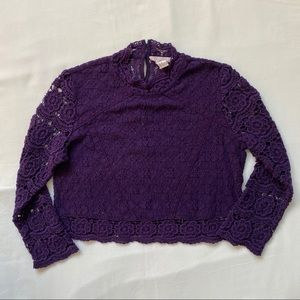 3/20$ Forever 21 Purple Lace Long Sleeve